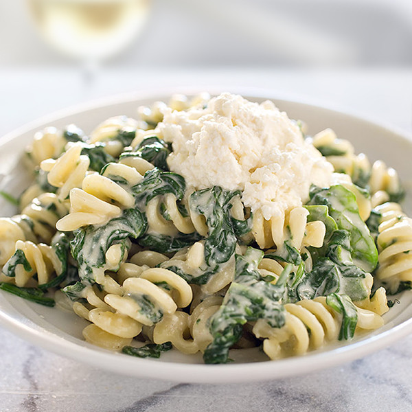 Pasta with Spinach and Ricotta